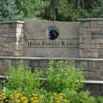 High Forest Ranch Logo Sign